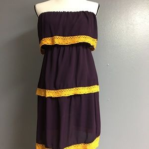 Strapless game day dress! LSU fans!